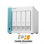 Servidor Qnap Nas TS431k Quad Core 1.7ghz 4 Bahias distribuidor qnap colombia venta de discos para nas qnap
